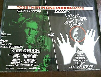 Peter Cushing The Ghoul Donald Pleasence I Don't Want To Be Born Film Poster UK