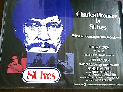 Charles Bronson St Ives Original Film Movie Poster Theatrical Release Premiere