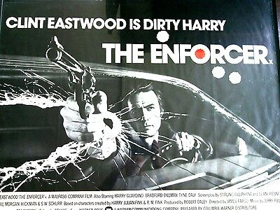 Clint Eastwood The Enforcer Dirty Harry Original Film Movie Poster Theatrical