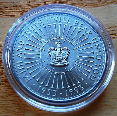 UK 1993 Queen's Coronation 40th Anniversary £5 Five Pounds Crown Coin With COA #