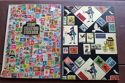 Stamp Huge Collection in 2 x Books USA airmail England Wales Northern Ireland