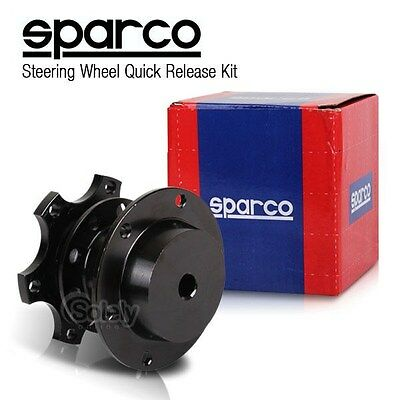 SPARCO Black Tuning Steering Wheel Quick Release Hub Adapter Snap Off Boss Kit