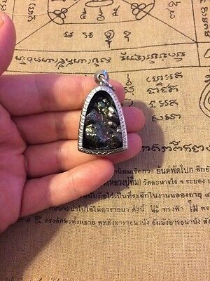 Natural Pure Lek Lai (Black Jewel of Thailand) Amulet, Arch Shape. Grade A+