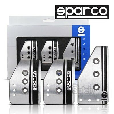 SPARCO Settanta MT Manual Transmission Racing Non Slip Satin Alloy Pedal Pads
