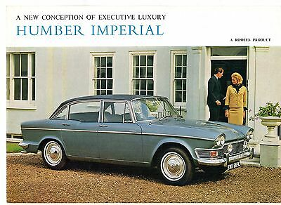 Humber Imperial 1965-67 UK Market Foldout Sales Brochure