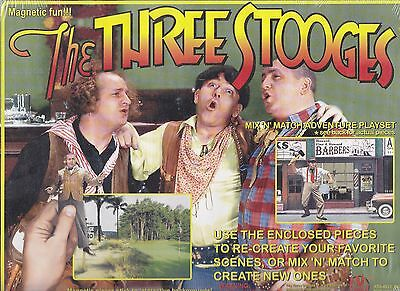 The Three Stooges Mix 'n' Match Adventure Playset Magnetic Fun!