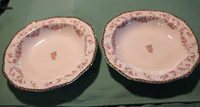 Alfred Meakin Harmony Rose 2 Soup Bowls  Beautiful Look!!!
