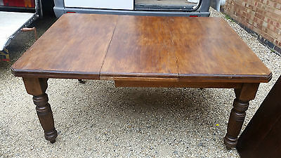Antique Edwardian Oak extending dining table
