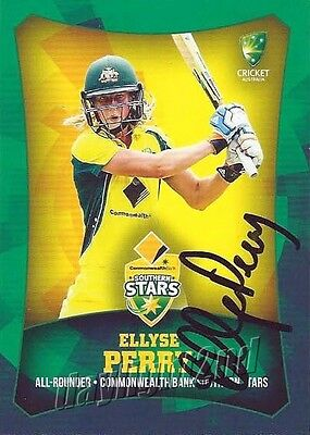 ✺Signed✺ 2016 2017 AUSTRALIAN Cricket Card ELLYSE PERRY Big Bash League Sixers