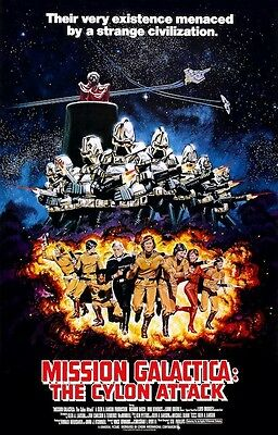 """Battlestar Galactica - Mission Galactica: """"The Cylon Attack"""" POSTER 1979"""