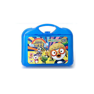 Korea Animation Pororo Crayons 36 Colors Boys & Girls Drawing Exercises Pencil