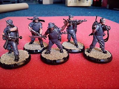 "Dust Tactics SSU Heavies"" squad painted and based"