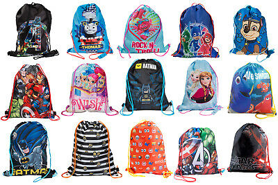 Kids Character Swimming Bag Gym Bag Pump Bag Sports School Drawstring Boys Girls