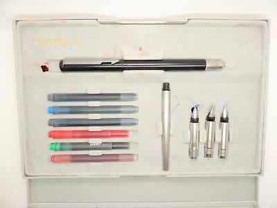 Vintage Parker Calligraphy  Pen Set Serviced with Extra Pens & Nibs  DN06
