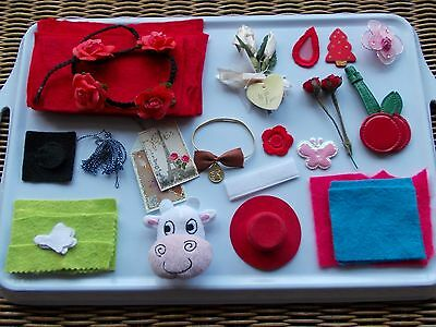 Assorted small items for craft projects