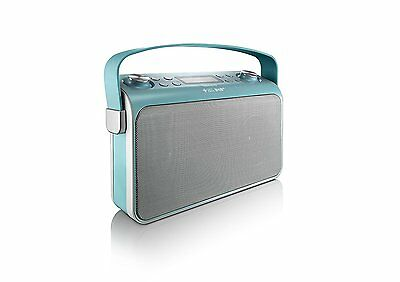 Lenco Lucille turkis Bluetooth Lautsprecher Speaker FM USB Radio NFC MP3 DAB +
