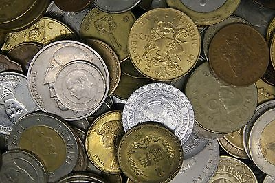 LOT of WORLD Coins 830 Gr.(150)coins Almost don't repeat