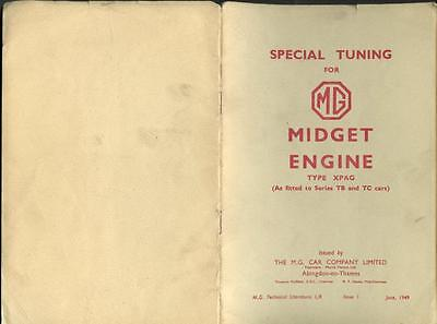 Special Tuning for MG Midget Engine type XPAG