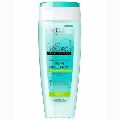 Eveline New Hyaluron Deeply Purifying Micellar Lotion with Sea Minerals 200ml