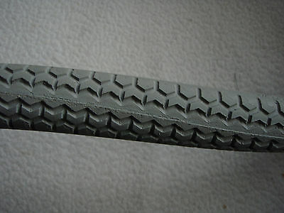 """Pair Solid 26"""" x 1.375 Grey Wheelchair Tyre  puncture free"""