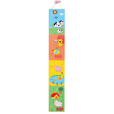Bigjigs Toys Wooden Farm Themed Height Chart