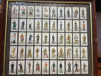 John Player 1939 Uniforms Of The Territorial Army Set Of 50 Cards Framed