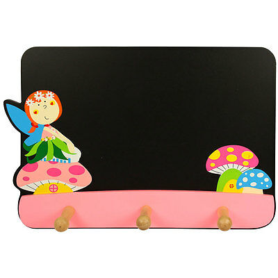 Bigjigs Toys Blackboard with Coat Hooks (Fairy)