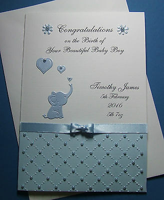 Personalised New Baby Congratulations Birth Card Boy Girl