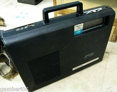 Vintage Silvano 3 in 1 radio/turntable/phono/cassette player suitcase 70's