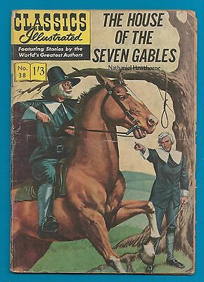 Classics Illustrated Comic Book # 38 The House of the Seven Gables  #800