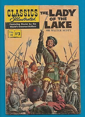 Classics Illustrated Comic Book #28 The Lady of the Lake by Sir Walter Scott#801
