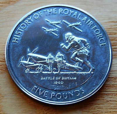 Guernsey 2008 Battle Of Britain History Of RAF £5 Five Pounds Coin #