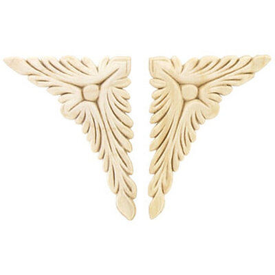 Acanthus Corner-Wood Applique-Decorative Applique-Wood Crafts-2pcs