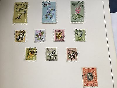 57 different African Country stamp collection in heavy album, nice assortment