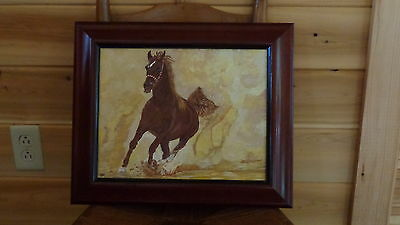 "Galloping Horse (11"" x 14"") Painting by Artist"