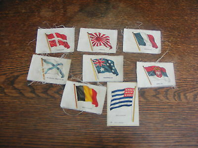 Silk Cigarette Cards 8 Assorted Flags