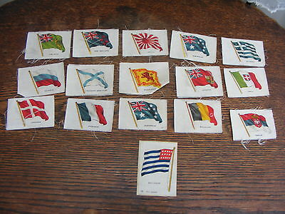 Silk Cigarette Cards 16 Assorted Flags