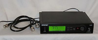 SHURE SLX4 SLX Wireless Receiver - J3 572-596 MHz - Exc Cond w/ant jumpers!