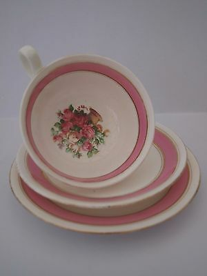 Cup/saucer/plate. Chelson China.england.pink Floral Design