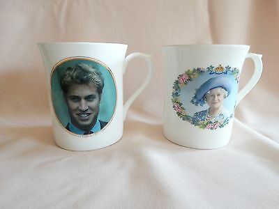 royal mugs Queen mother and Prince William