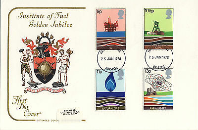 Cotswold Covers Institute of Fuel Golden Jubilee FDC unaddressed 25/1/78