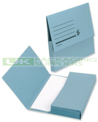 20 Blue Card Half Flap Storage Files Folders Wallets For A4 Document Filing