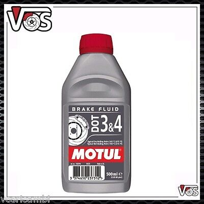 Motul DOT 3&4 Olio Liquido freni Auto moto 500ml 100% Sintetico Brake Fluid