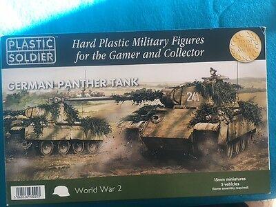 Plastic Soldier Company 15mm 5x German Panther Tank