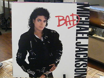 MICHAEL JACKSON Bad 1987 RARE Record Store Promo Album Flat 2 sided