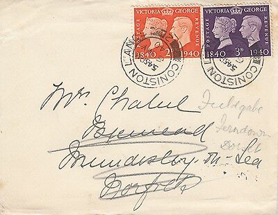 M 32 Centenary of 1st UK stamps May 1940 First Day Cover set; Coniston