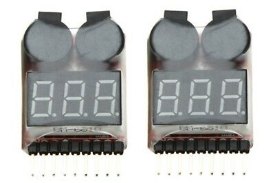 2 x LiPo Battery Checker RC Airplane  Low Voltage Alarm Monitor Tester 1S-8S, UK