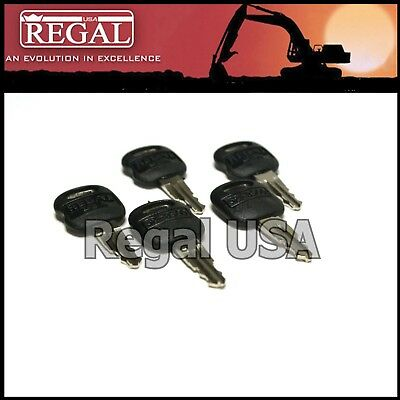 (5) 5P8500 Ignition Key old style for Caterpillar (5P-8500, 0964753, 0966198)