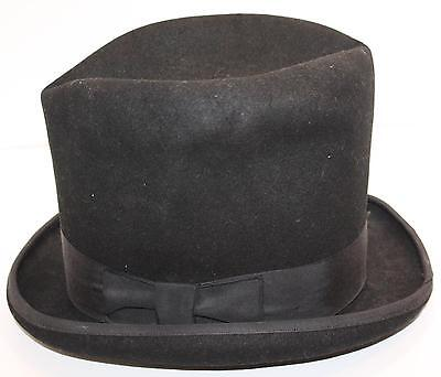 """Stylish Antique Vintage Morris Tall Top Hat 23"""" Band Steampunk Caroler Theater"""