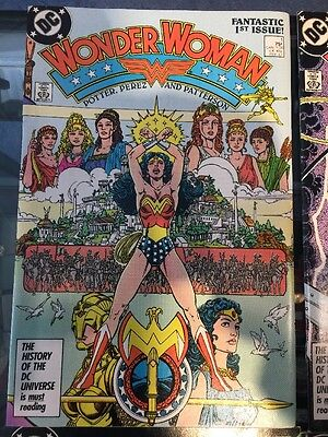 Fantastic First Issue & Run 1-9 NM Wonder Woman GEORGE PEREZ Movie Coming!